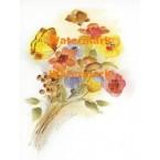 Butterflies & Flowers  - XS4712  -  PRINT