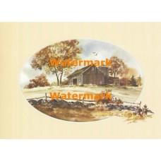 Barn & Milk Cans  - XS5725  -  PRINT