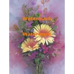 Yellow & Purple Bouquet  - #XS6451  -  PRINT