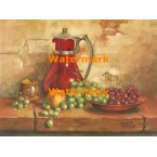 Still Life With Grapes  - XBSL415  -  PRINT
