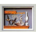 Mantle Arrangement With Lantern  - #XKFL7253  -  PRINT