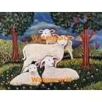 Sheep Family  - #XKL7735  -  PRINT