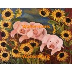 The Three Pigs  - #XKL7738  -  PRINT