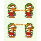 Christmas Teddy  - #XM7010  -  PRINT