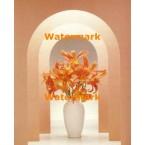 Orange Lilies  - #XKL8433  -  PRINT