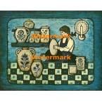 The Pottery Maker  - XBAM115  -  PRINT
