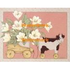 Wooden Cart  - #XBAM463  -  PRINT
