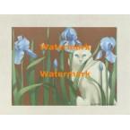 Blue Iris  - #XBAN1020  -  PRINT