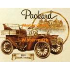 Vintage Car:  Packard  - #XD9696  -  PRINT