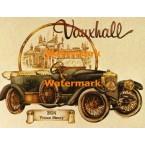 Vintage Car:  Vauxhall  - #XD9699  -  PRINT
