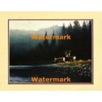 Deer At The Lake  - #XKFL9827  -  PRINT