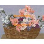 Floral Basket  - #XBPP2102  -  PRINT