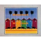 Beach Houses  - #XBPP337  -  PRINT