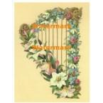 Victorian Harp  - #XM3003  -  PRINT