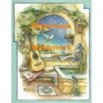 Music Garden With Guitar  - XM4827  -  PRINT