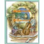 Music Garden With Cello  - XM4828  -  PRINT