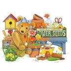 Flower Seed Teddy - #XM9504  -  PRINT