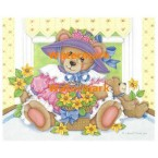 Flower Girl Teddy - #XM9508  -  PRINT