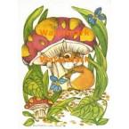 Mouse & Mushroom  - #XS829  -  PRINT
