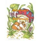 Mouse & Mushroom  - #XS830  -  PRINT