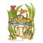 Mouse & Mushroom  - #XS831  -  PRINT