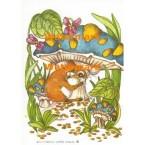 Mouse & Mushroom  - #XS832  -  PRINT