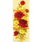 Red Roses & Daisies  - #XS127  -  PRINT