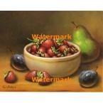 Bowl of Strawberries  - #XS6157  -  PRINT
