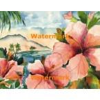 Tropical Flowers  - #XS16051  -  PRINT