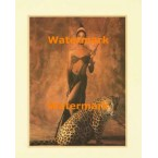 Woman and Leopard  -  #XS10286  -  PRINT