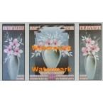 Grey/Pink Florals  - #XSTT10801-02-03  -  TRIPTYCH PRINTS