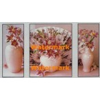 Fan and Lilies  - #XSTT12738-39-40  -  TRIPTYCH PRINTS