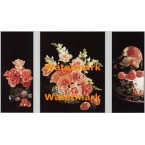 Victorian Florals  - #XSTT14419-20-21  -  TRIPTYCH PRINTS