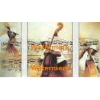Bass Player  - #XKH2818T  -  TRIPTYCH PRINT