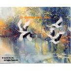 Cranes  - #LOR705  -  PRINT