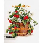 Strawberries In Wood Tub  - #AOR104  -  PRINT