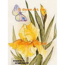 Yellow Bright With Butterfly  - AOR106  -  PRINT