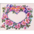 Flower Heart Shape  - #AOR150  -  PRINT