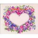 Sweet Peas Heart Shaped  - #AOR155  -  PRINT
