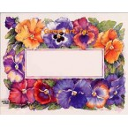 Pansie Rectangle Shaped  - #AOR166  -  PRINT