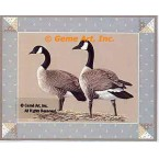 Country Geese  - #BOR46  -  PRINT