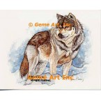Wolf in Snow  - #COR121  -  PRINT