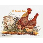 Chicken & Rooster  - #COR3  -  PRINT