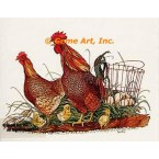 Chicken & Rooster  - #COR4  -  PRINT