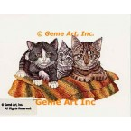 Three Cats  - #COR97  -  PRINT
