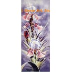 Pretty In Pink Iris  - LOR619  -  PRINT