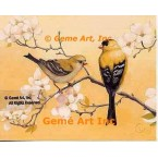 Goldfinch Pair  - #ROR423  -  PRINT