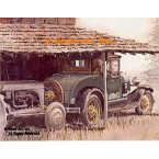 "1929 Ford Model ""A"" Roadster  - #GOR1  -  PRINT"