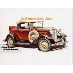 1932 Ford Deluxe Roadster  - #GOR14  -  PRINT