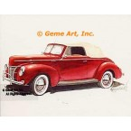 1940 Ford Deluxe Convertible  - #GOR17  -  PRINT
